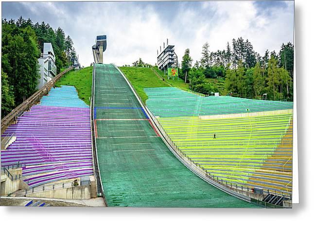 Innsbruck Olympic Stadium Greeting Card