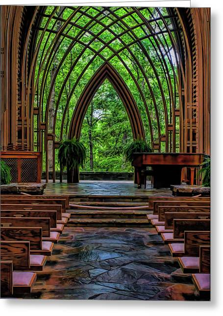 Inside The Chapel Greeting Card