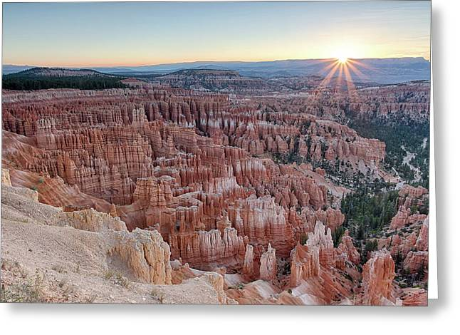Inspiration Point Sunrise Bryce Canyon National Park Summer Solstice Greeting Card