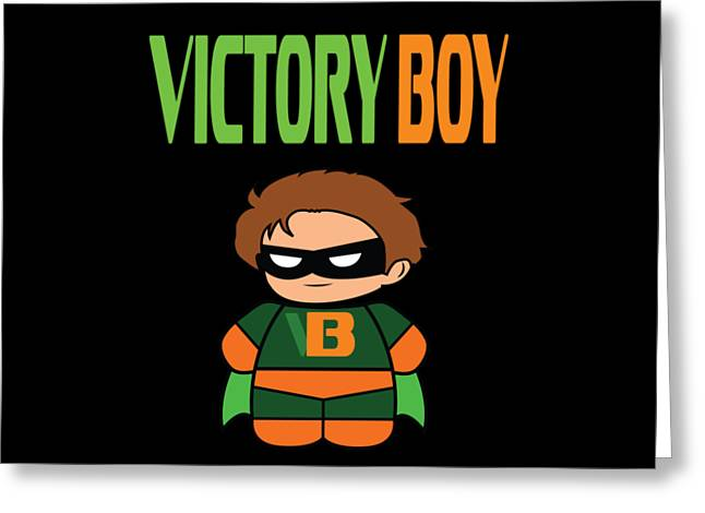 Inspirational Victorious Tee Design Victory Boy Greeting Card