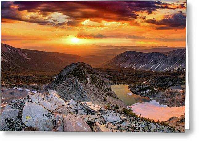 Greeting Card featuring the photograph Inspiring Sunrise  by Leland D Howard