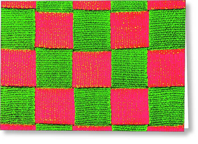 Interlaced Canvas Straps 2 Greeting Card