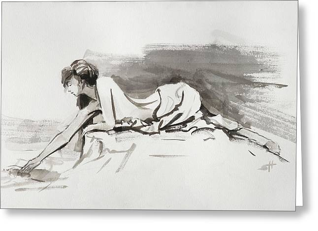 Greeting Card featuring the painting Introspection by Steve Henderson
