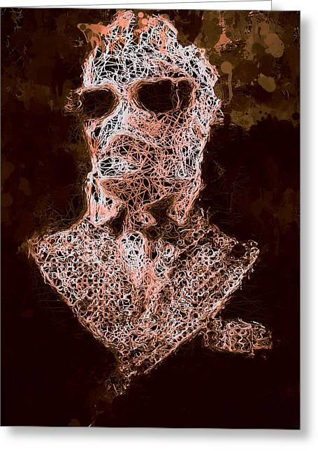 Greeting Card featuring the mixed media The Invisible Man by Al Matra
