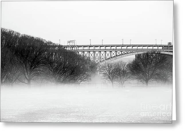 Greeting Card featuring the photograph Inwood Hill With Fog by Cole Thompson