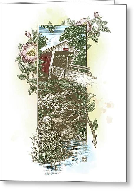 Iowa Covered Bridge Greeting Card