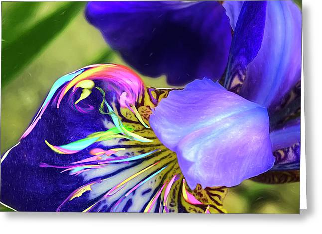Greeting Card featuring the digital art Iris Osirus by Cindy Greenstein