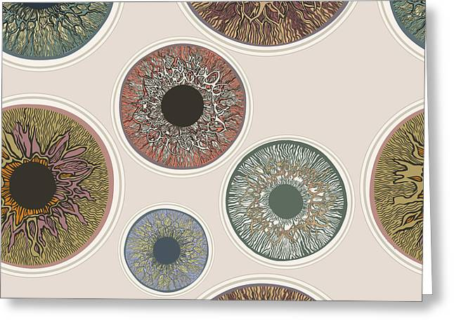 Iris Seamless Pattern. V1.0 Greeting Card