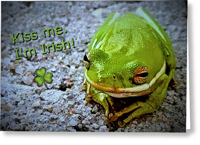 Irish Frog Greeting Card