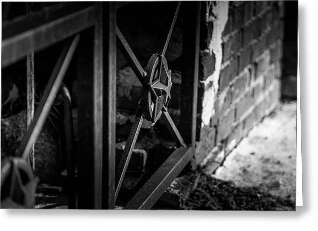Iron Gate In Bw Greeting Card