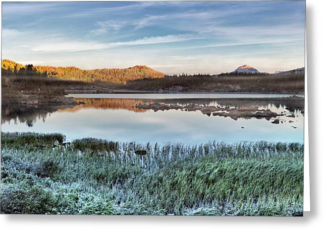Island Lake Sunrise Greeting Card by Leland D Howard