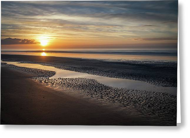 Isle Of Palms Morning Patterns Greeting Card