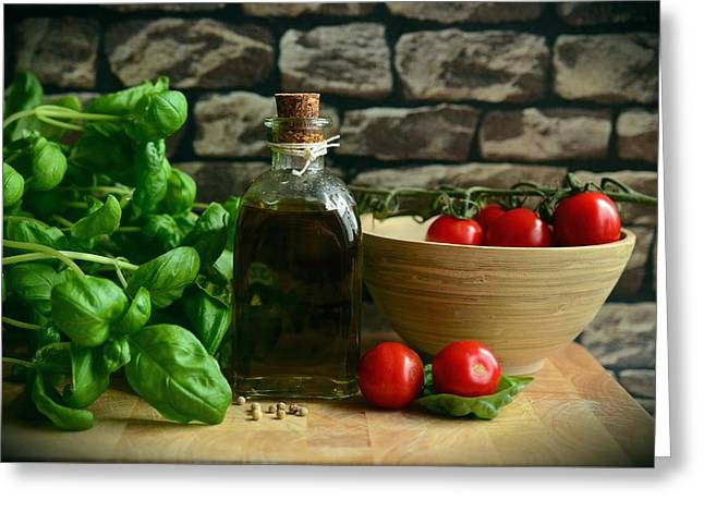 Italian Ingredients Greeting Card