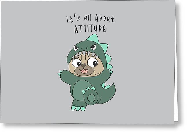 It's All About Attitude - Baby Room Nursery Art Poster Print Greeting Card