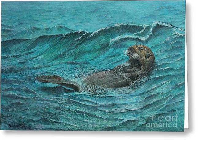 It's My Otter Day Off.....sea Otter Greeting Card