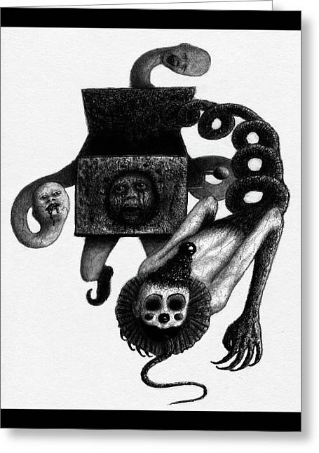 Jack In The Box - Artwork Greeting Card