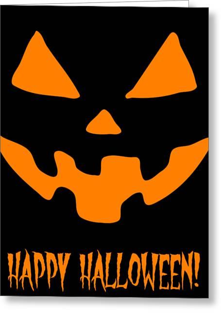 Jackolantern Happy Halloween Pumpkin Greeting Card