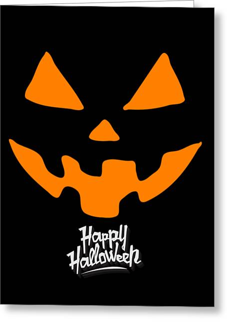 Jackolantern Pumpkin Happy Halloween Greeting Card