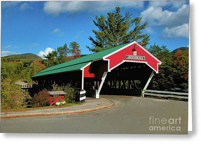 Greeting Card featuring the photograph Jackson Covered Bridge by Debbie Stahre