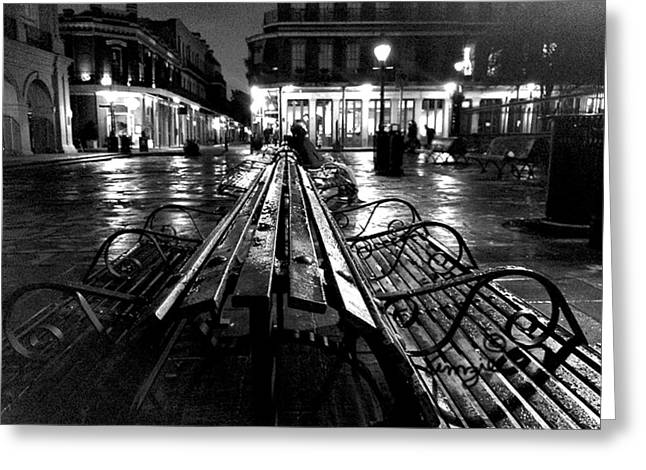 Jackson Square In The Rain Greeting Card