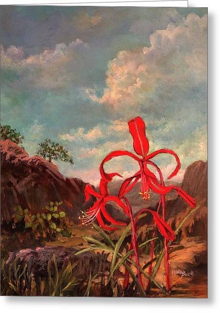 Jacobean Lily Of Mexico Greeting Card