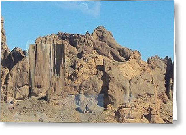 Jagged Rocks Greeting Card