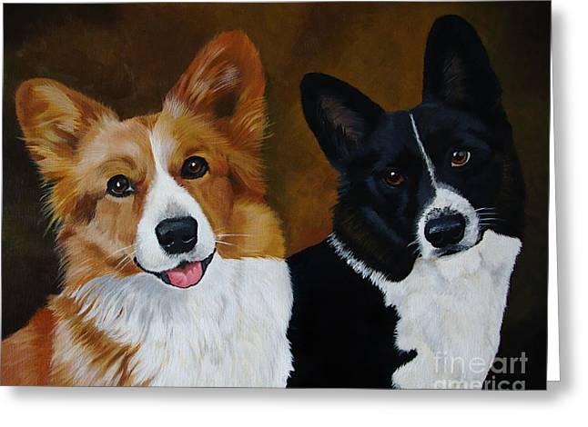 James And Joy Custom Portrait Painting Greeting Card