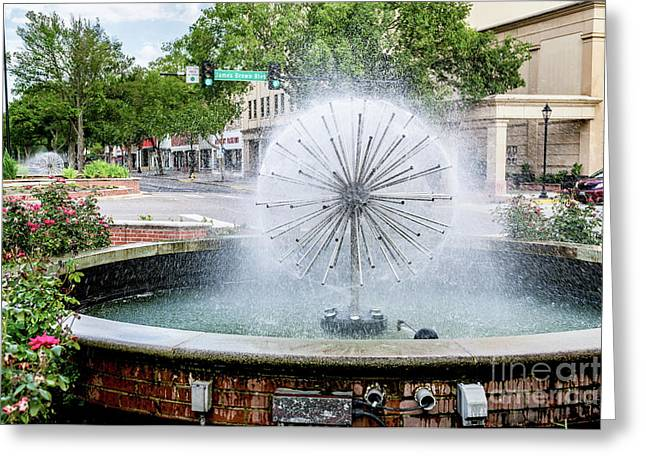 James Brown Blvd Fountain - Augusta Ga Greeting Card