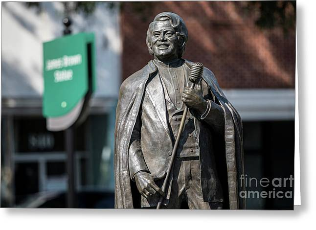 James Brown Statue - Augusta Ga Greeting Card