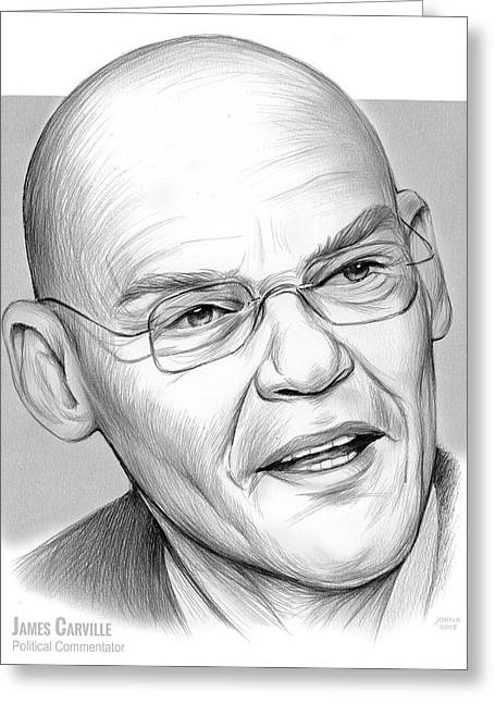 James Carville Greeting Card