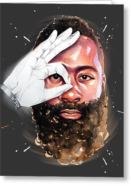 James Harden, Houston Rockets Greeting Card