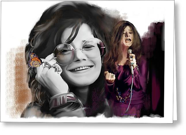 Janis Joplin Chrysalis  Greeting Card