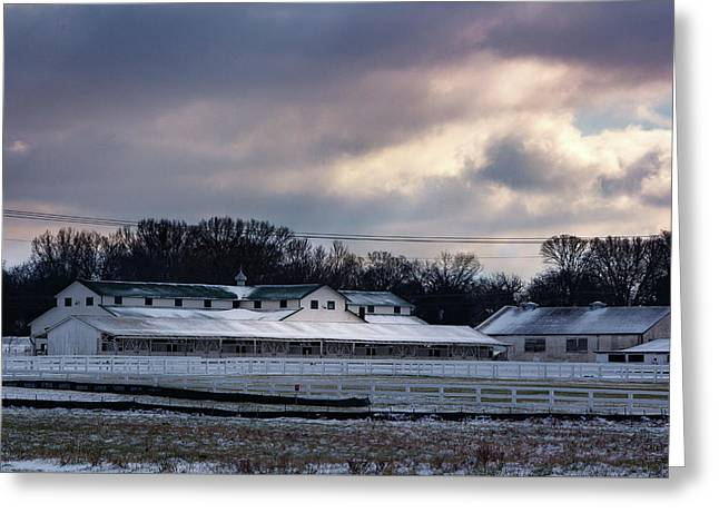 January Dusting Greeting Card