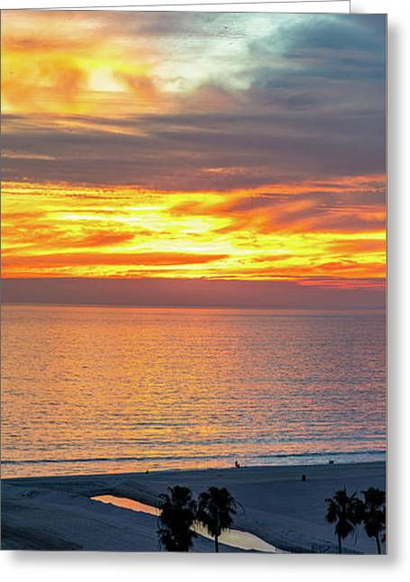 January Sunset - Vertirama Greeting Card