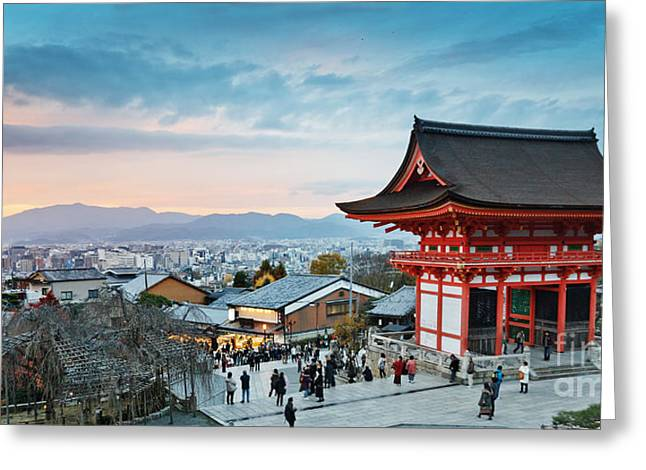 Japan - Kyoto. Kiyomizu Temple Greeting Card by Kanuman