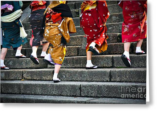 Japanese Ladies In Traditional Dress Greeting Card