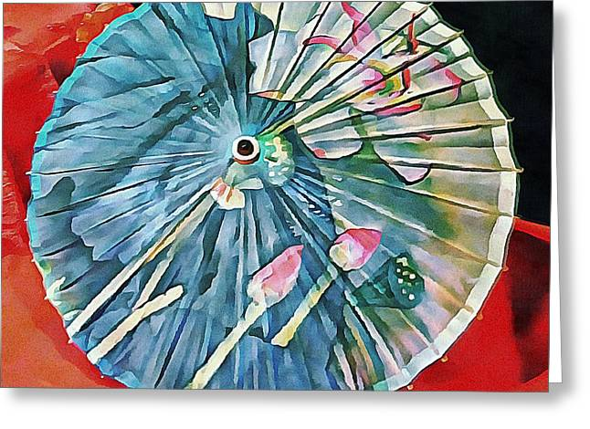 Greeting Card featuring the photograph Japanese Parasol Study 1 by Dorothy Berry-Lound