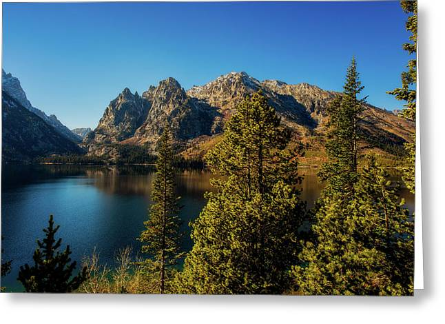 Greeting Card featuring the photograph Jenny Lake by Pete Federico