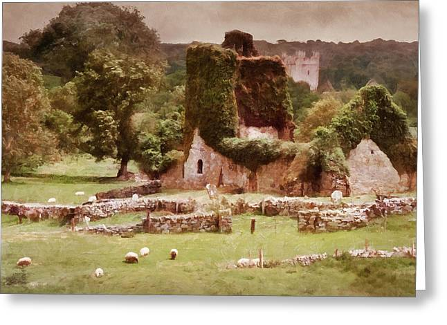 Jerpoint Park - Irish Landscape With Ruins Greeting Card