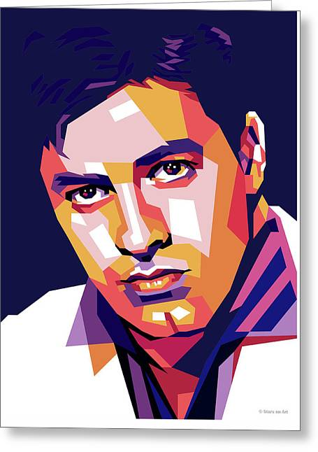 Jerry Lewis Illustration Greeting Card