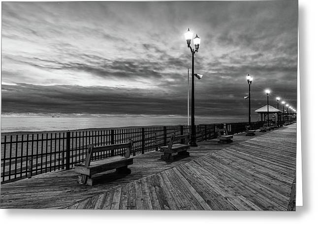Jersey Shore In Winter Greeting Card