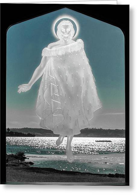 Greeting Card featuring the photograph Jesus Walks On The Water by Mark Dodd
