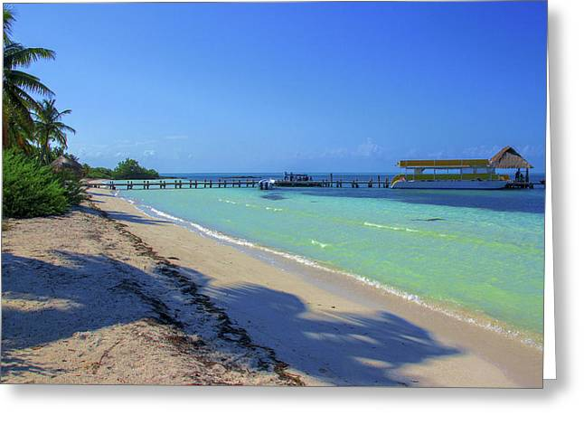 Jetty On Isla Contoy Greeting Card