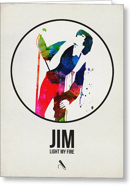 Jim Watercolor Poster Greeting Card