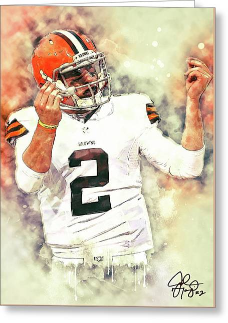 Johnny Manziel Greeting Card