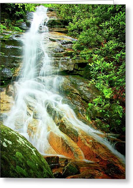 Jones Gap Falls, South Carolina Greeting Card