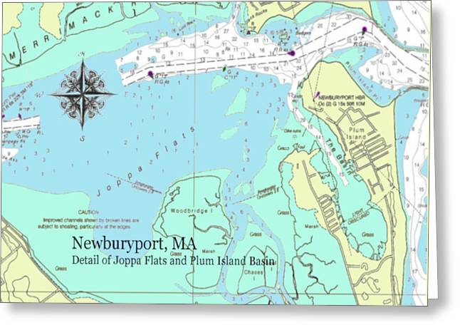 Joppa Flats Map Greeting Card