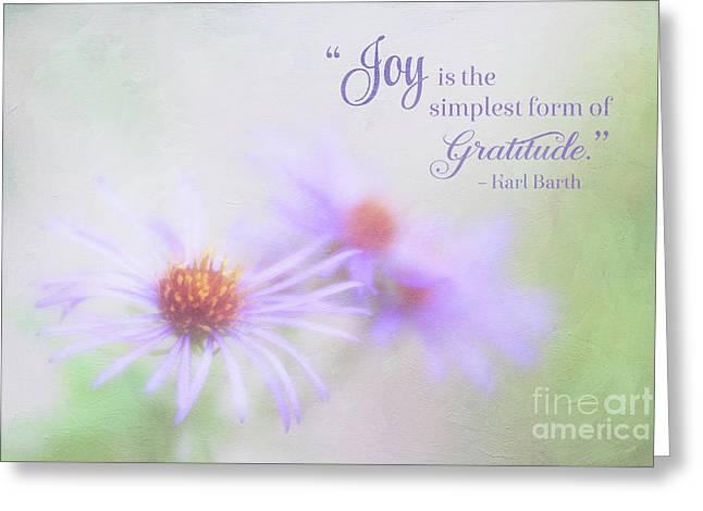 Joy And Gratitude For All Seasons Greeting Card