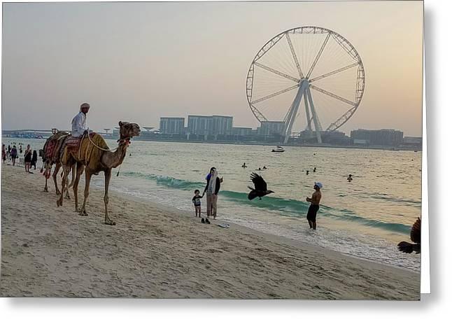 Jumeirah Beach, Dubai Marina, Dubai, United Arab Emirates Greeting Card