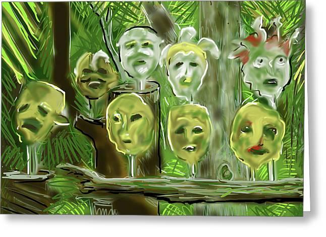 Jungle Spirits Greeting Card